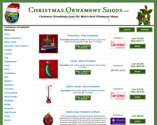 christmas ornament shops