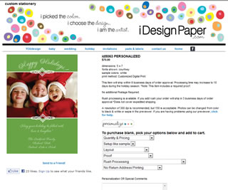 Idesign Paper Custom Stationery