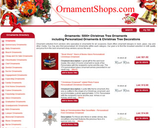 Ornament Listing Site