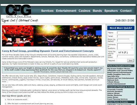 Carey and Paul Entertainment Group