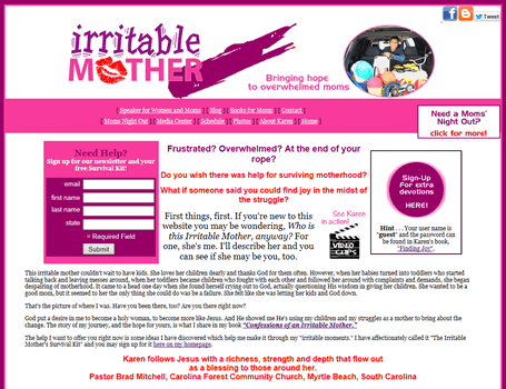 Irritable Mother, Speaker and Author