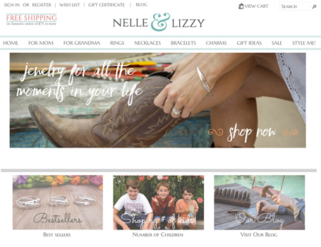 Nelle and Lizzy personalized jewelry