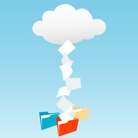 Store Files in the Cloud - photo by fotosearch.com